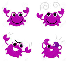 purple clipart crab pencil and in color purple clipart crab