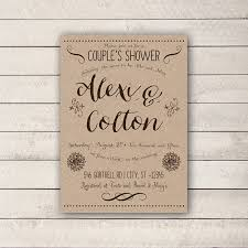 baby shower for couples couples shower invitation rustic couples shower invitation
