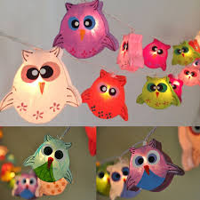 String Lights For Boys Bedroom 3m 20 Led Cute Paper Owl String Lights For Party Christmas Kids