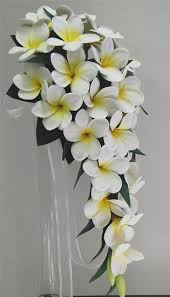 wedding flowers ebay real touch white yellow frangipani teardrop wedding bouquets
