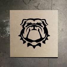 georgia bulldogs uga mascot stencil