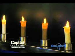 light bulbs that look like candles bulbrite innovative flicker flame led light bulb video youtube
