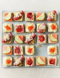 dining canapes recipes luxury canapé selection serves 24 m s