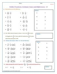 fifth grade free math worksheets biglearners
