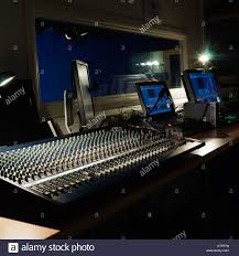 Studio Mixer Desk by Internet Television Tv Recording Studio Monitor Screen On Air