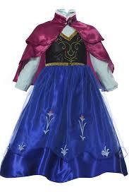 dark blue frozen anna princess fancy dress kids cosplay costume