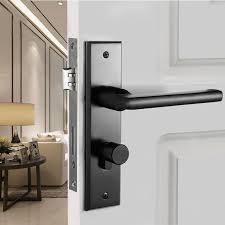 bedroom door handles black panel door locks modern minimalist bedroom door door lock