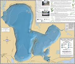 map of arbor big arbor vitae lakes fold map