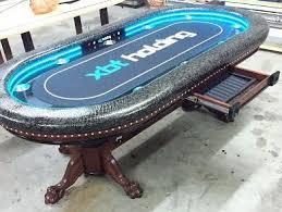 Custom Poker Tables Custom Lighted Kidney Shaped Poker Table Custom Poker Tables