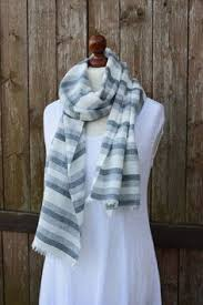 white linen scarf summer scarf white scarf pure white scarf