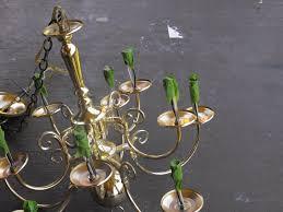Chandelier Makeover Remodelaholic Diy Brass Chandelier Makeover