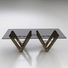3d restoration hardware v form dining table high quality 3d models