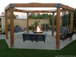 how to mount posts for pergola with swings doityourself com