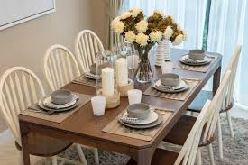 Modern Dining Room Table Set Dining Room A Modern Casual Table Settings With White Chairs Long