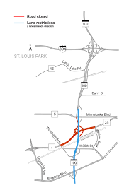 Minneapolis Metro Map by Hwy 100 Project Mndot
