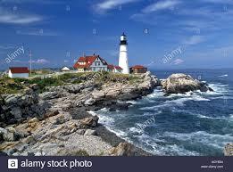 portland headlight lighthouse portland maine stock photo royalty