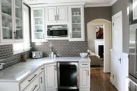 Grey Glass Backsplash by Gray Subway Tile Kitchen Backsplash Home Design Ideas 20 Kitchen