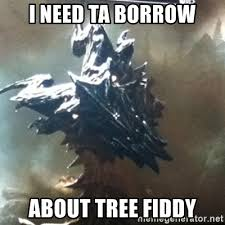 Tree Fiddy Meme - i need ta borrow about tree fiddy ohai der alduin meme generator