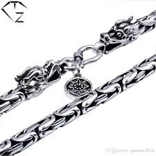 men necklace chains images 2018 925 sterling silver dragon head necklace men jewelry 100 jpg