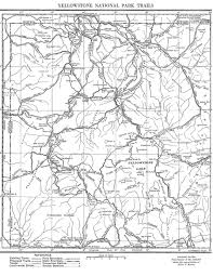 Map Of Yellowstone National Park Alice Morris Mapping Yellowstone U0027s Trails Wyohistory Org