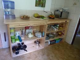 plan de travail avec rangement cuisine la pince en palette plan de travail de cuisine