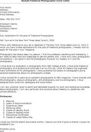 cover letter for photography job the letter sample