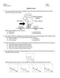 worksheet weather frontsthis worksheet has 27 earth science