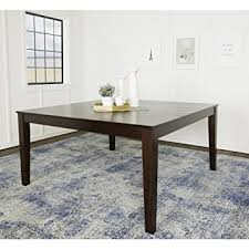 60 dining room table amazon com we furniture 60 square espresso wood dining table tables