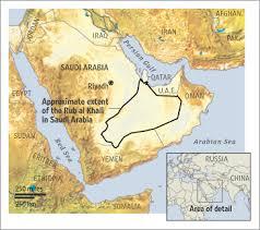 rub al khali map saudi desert s gas mirage wsj