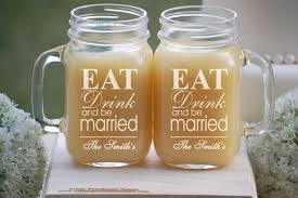 personalized wedding gift drink and be married jar