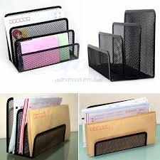 Black Wire Mesh Desk Accessories Black Metal Mesh Desk Organizer Desktop Letter Sorter Mail Tray