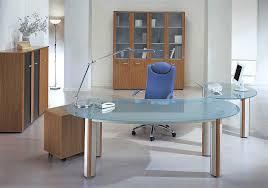 Modern Glass Executive Desk Furniture Impressive Modern Glass Executive Desk Office Interior