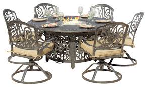 introducing firepit tables a fiery outdoor dining table with pit coredesign interiors