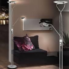 Lampen Fuer Schlafzimmer Elegante Led Stehleuchte Mit Deckenfluter Und Leseleuchte Lampen