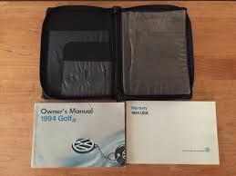 mk3 golf vw golf volkswagen 1994 golf owners manual oem u2022 17 99