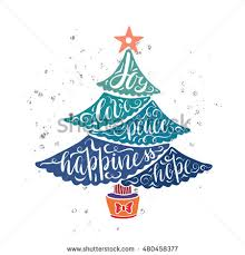 christmas tree greeting card design wishes stock vector 480464782