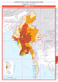 Map Burma Overview Agricultural Atlas Of The Union Of Myanmar
