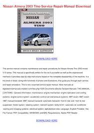 100 nissan almera owner manual hw04 nissan almera tino 1 8