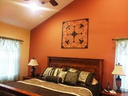 Red Bedroom Accent Wall - bedroom burnt orange accent wall bedroom 916371010201744 burnt