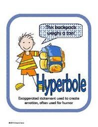hyperbole lesson and writing activities figurative language