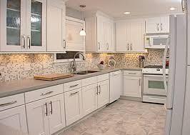 kitchen backsplash ideas with oak cabinets white porcelain double