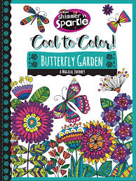 cra z art shimmer u0027n sparkle cool to color butterfly garden