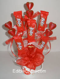 candy valentines valentines gift ideas candy bouquet diy from ediblecrafts