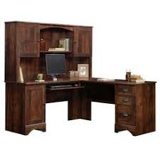Sauder Harbor View Corner Computer Desk In Antiqued Paint Sauder Computer Desk Hutch