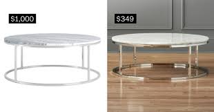 Round Marble Top Coffee Table Splurge Vs Save White Marble Home Decor U2013 The Denver Post