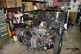 fox mustang drag car build husted to the side with a 93 fox dragzine