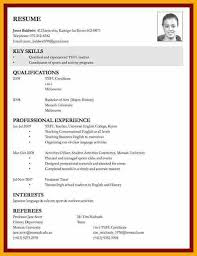 Sample Job Application Resume by 9 Example Of Curriculum Vitae For Job Application Bursary Cover