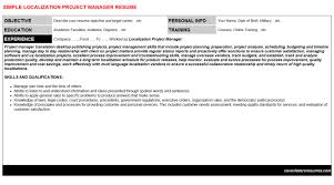 localization project manager cover letter u0026 resume