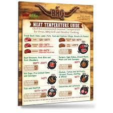 amazon com 2017 best design meat temperature guide 8 5