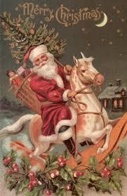 printable horse christmas cards santa printable holidays pinterest santa vintage santas and
